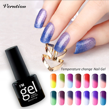 Verntion UV Gel Lak Nail Polish Uv Colour Temperature Change Nail Gel Polish Soak Off Colored Gel Nail Polish Led Uv Lamps(China)