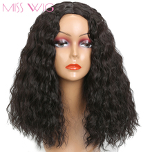 MISS WIG Long Curly Corn rolls Black Color Wig For Black Women Without Ban Synthetic Wigs African Hairstyle Afro Wigs(China)
