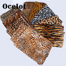 Animal Patterns Zebra Print Leopard Printed Short Pile Faux Fur Fabric Thin For Costumes/Home Decoration