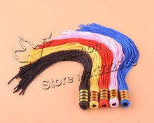 50pc/lot Lantern tassel 5 Colors Rayon Silk Cord Handmade DIY Chinese Knot Tassel Accessories Jewelry Decoration JW432