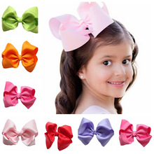 12cm Large Hair Bows With Clips For Childrens Handmade Grosgrain Ribbon Hairbow Baby Hair Bow Accessories 16 Colors(China)