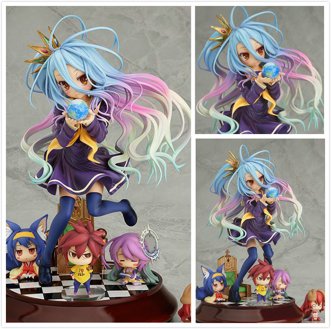 Lovely cartoon movie Action Figure Model Furnishing articles anime No Game No Life 2 hand toy doll kids Holiday gift collection<br>