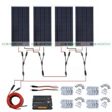 4x100W 12V Solar Panel 20A Temperature Regulator for Home Car Off Grid System Solar Generators