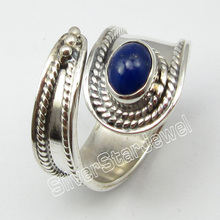 .  Silver Natural LAPIS LAZULI Handmade Ring Size 6.75 Jewelry Store