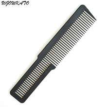 UGOWKATO Black Hairdresser Beard Combs Antistatic Beauty Hair Cutting Comb Salon Professional Hair Brush Anti Static Barber Tool(China)
