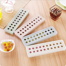 DIY Ice Cube Mold,Food Grade Soft Silicone Ball Shape Ice Cube Tray,Creative Cooking Tools,Hockey 20 Grids Ice Cream Makers