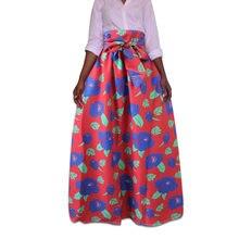 Falda de las mujeres más tamaño 5XL alta cintura Abaya musulmán impresión  Africana larga Saia plisado Bodycon falda Maxi turco f. 350e8a683748