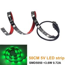 UnvarySam USB 5V 5050 Red Green Blue LED Strip Light Kit TV Background Lighting With Mini Controller For TV PC Laptop Bias Light(China)
