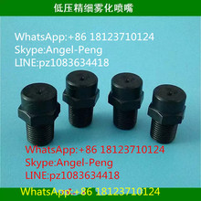 fog misting spray nozzle,FE1/8 BSPT plastic low pressure fog nozzle,PP water mist cooling nozzle(China)