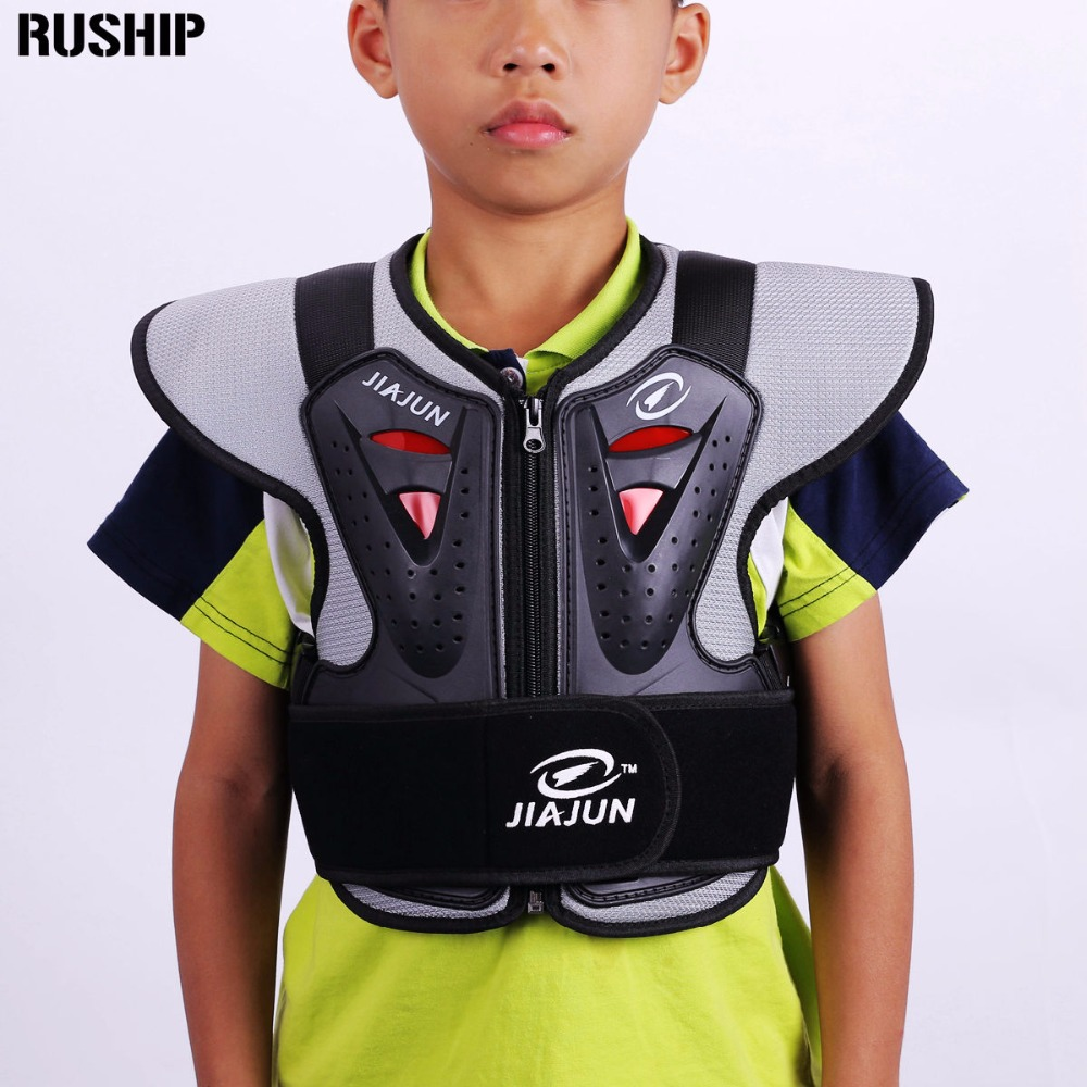 Childrens Professional armor vests motocross armor ski back support kids motorcycle protective gear Back support Free Shipping<br>