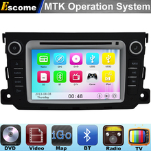 MTK3360 Car DVD Player For Mercedes Benz Smart Fortwo 2012 2013 2014 with 800MHz CPU Dual Core Bluetooth Radio GPS Navigation