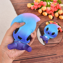 1pcs Baby Cream Scented Squishy Slow Rising Squeeze Toy Phone Charm Straps Water Drops Hand Massage toy High Quality(China)
