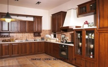 Modular wooden kitchen cabinet(LH-SW004)(China)