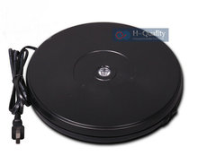 250X40MM Electric Rotary Swivel Turntable Product Display Stand Base With LED Light 40 Secs Constant Speed Hold 15KGS 2 Color(China)