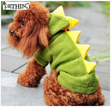 Interesting Pet Dogs costume Puppy Cat Cute Dinosaur Pretty Hoodie Costumes puppy costume funny dragon dog costume XS-XL