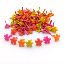 100Pcs 7mm Mixed Color Flower Scrapbook Metal Brads For Kids Diy Photo Album Handmade Paper Gifts Embellishments Decoration New(China)