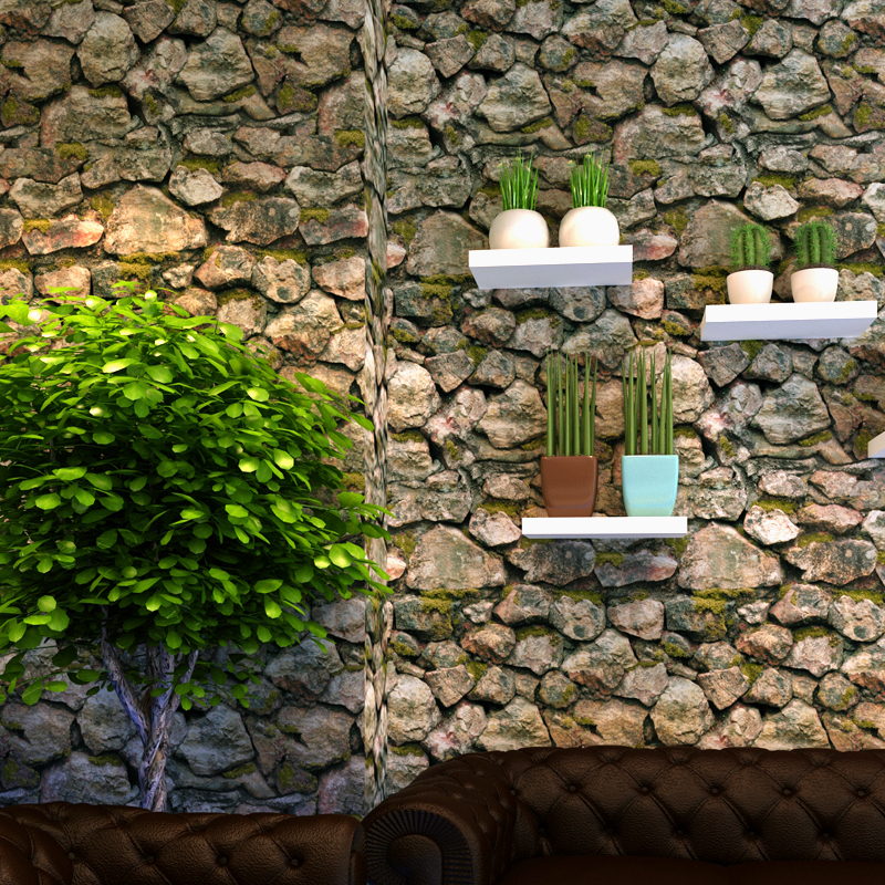 Vintage Stone Brick 3d wallpaper, antique culture, stone hotel, teahouse, study room wallpapers rolls for living room<br>
