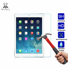 2Pcs 0.3mm Transparent Real Tempered Glass For iPad mini 2 3 4 Air Air2 Pro 9.7 10. 5 Ultra Clear Tablet Screen Protector Film(China)