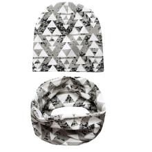 New Style Baby Girl Hat Infant Hat Set Cotton Boys Hat Cap Baby Scarf Children Caps Ring Scarf Baby Clothes Accessories