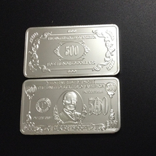 2pcs/lot collectible the United States 500 dollars coins silver plated America souvenir bullion bar coin