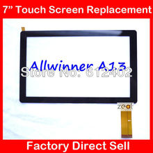 "5PCS 7"" 7Inch Capacitive Touch Screen PANEL Digitizer Glass Replacement for Allwinner A13 Q88 Q8 Tablet PC pad A13 Free Shipping"