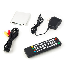 High Quality 1set 1080P Mini Media Player MKV/H.264/RMVB Full HD with HOST Card Reader Silver/ Blue/ Black Free Shipping