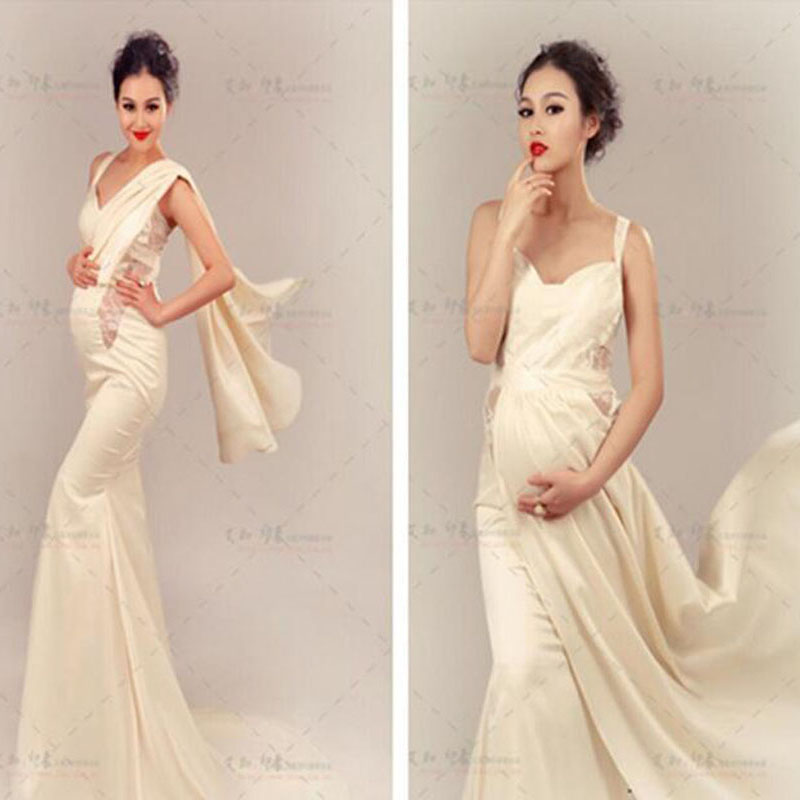 New Maternity Photography Props clothing for pregnant women Mermaid Dress Pregnancy elegant Photography dress CX-2<br><br>Aliexpress