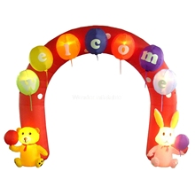 2017 newest design 10ftWx10ftH giant inflatable easter arch for party events sale
