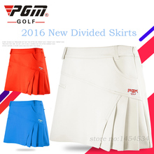 2018 Brand PGM Divided Skirt Clothing Women Golf Spring Short Sportwear Skirt Lady Tennis Pantskirt Woman Plus Size Apparel New(China)