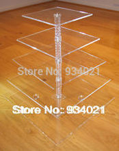 5 Tier Square Acrylic Cupcake Stand Party Wedding Cake Holder