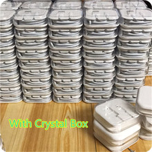 100Pcs/lot 1M 3.0mm 8pin USB Data Sync Charger Cable Lead For iPad 4 iPhone 5 5c 5s 6 6s High quality Cable Crystal box packing