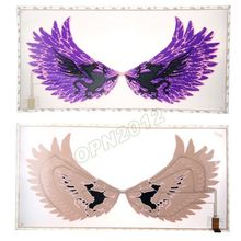 60*30cm Purple Wings Rear Led Sheet Sticker Music Voice Disco Rhythm Flash Light