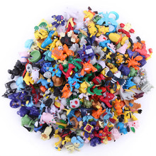 144pcs/72pcs Kawaii Pikachu action figure kids toys for children Birthday Christmas gifts 2-3 cm