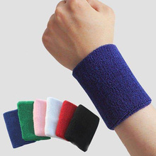 8*8 cm 100% Cotton Protector Wristbands Wrist Support Tennis/Basketball/Badminton Weightlifting Sports Protector Gym Wrist