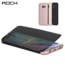 "Hot ROCK Dr.V Smart Semi Transparent Window Flip Case Plastic Cover Case For Samsung Galaxy S7 Edge 5.5"" & S7 5.1"" Phone Case"