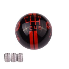 FIT For Ford Mustang Car 6 Speed Right R Left R Shift Knob Shifter Black Red Cobra Stripe Manual Transmission Shift Lever