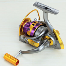 2017 New Series Aluminum Spool Superior Ratio 5.5:1 Spinning Fishing Reels 10BB Folding Arm Baitrunner Carp Spinning Reel(China)