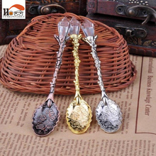 6 pcs Europe type palace restoring ancient ways costly mini spoon flavored coffee spoon scoop of lovely spoon tableware Kitchen