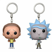 Keychain Avengers Rick and Morty action figure Bobble Head Q Edition new box for Car Decoration(China)