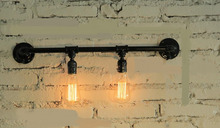 Water pipes light source set produced 75 industrial water wall lamp retro Cafe Loft American iron wall SG29(China)