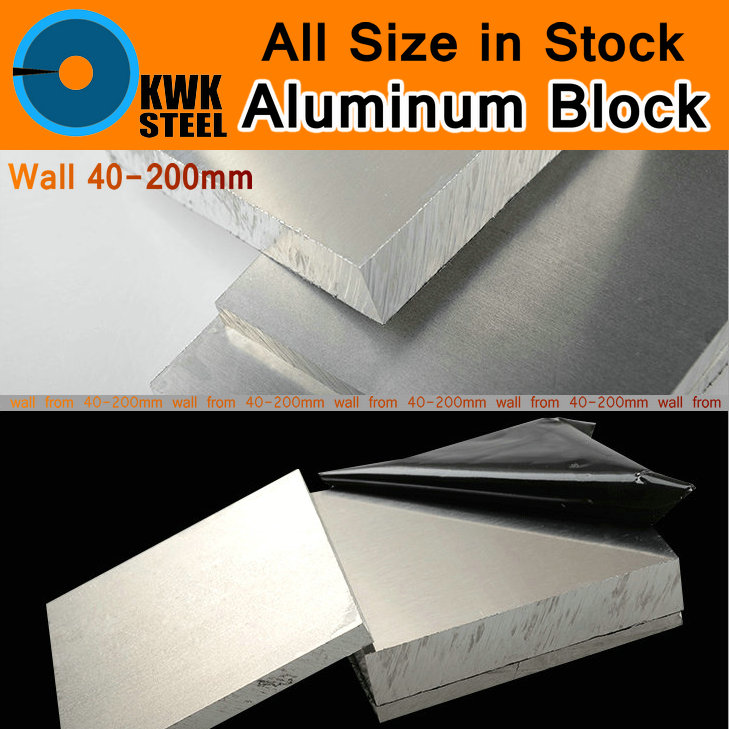 Aluminum Alloy Block 6061 Plate Aluminium AL Heavy Wall Sheet Bar DIY Material Mould Part Car Parts Metal for Vehicles Machine<br>
