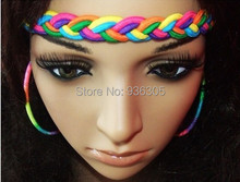 Wholesale and retail, euramerican style color elastic woven headbands, Headband for women. 3pieces/lot! Free shipping!