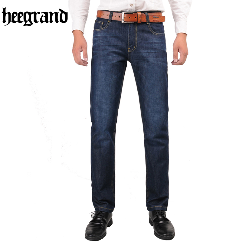 HEE GRAND 2017 New Arrival Autumn Winter Mens Jeans Dark Blue Straight Denim Trousers Pants Stretch Plus Size MKN834Одежда и ак�е��уары<br><br><br>Aliexpress