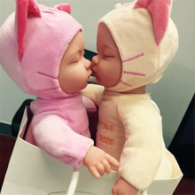 Baby doll reborn 35cm sleeping newborn babies with cartoon clothing can sing songs talking dolls for girls toys gift bonecas