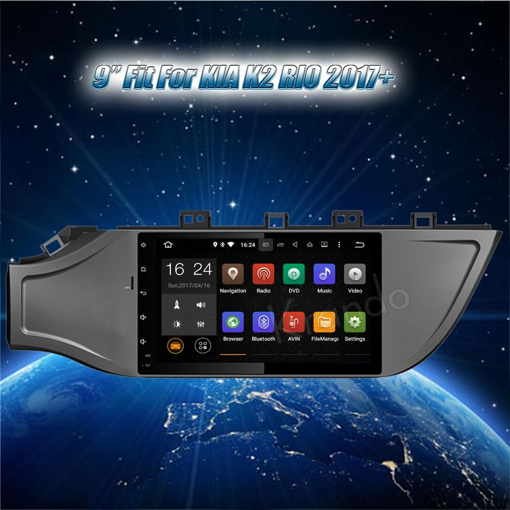 Krando Android car radio gps for kia k2 rio 2017+ navigation multimedia system (2)