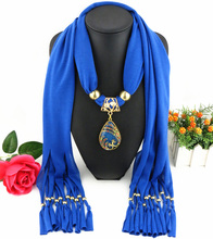 Fashion Women Vintage Statement necklace scarf Necklace Santa Peacock Pendants scarf Necklaces & Pendants Bijoux Christmas Gift