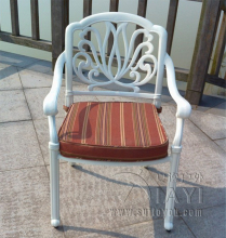 Cast aluminum chairs patio furniture garden furniture Outdoor furniture durable without cushions