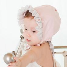 Summer Style Baby Girl Hat Vintage Ear Protected Infant Solid Lace Bonnet Hats Cap Sun Hat Bucket #2415