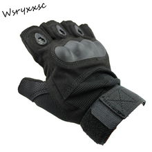 3 color outdoor sports Motorcycle Gloves Pro biker half finger Racing motocross motorbike gloves Dirt moto(China)