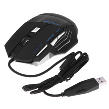 5500 DPI 7 Buttons LED Optical USB Wired Gaming Mouse Computer Mice For Game Playing Gamer New(China)